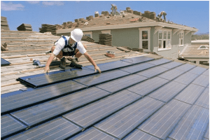 Монтаж солнечных батарей на крыше