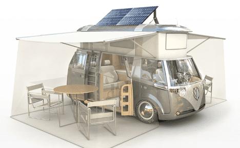 Автобус с солнечными батареями