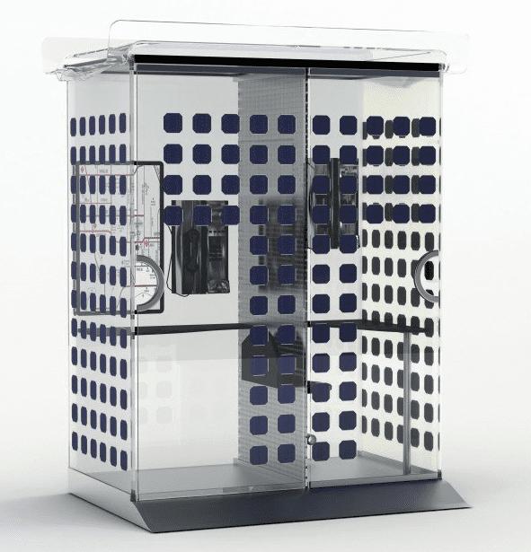 Телефонная будка Solbooth с солнечными панелями