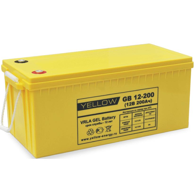 Гелевый аккумулятор YELLOW GB 12-200